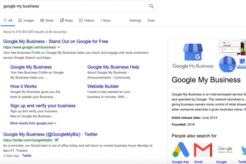 Google My Business Cardiff